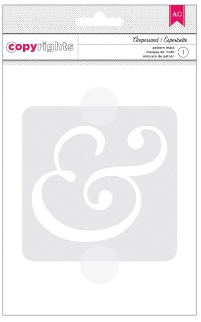 American Crafts 4 X6 Pattern Mask Ampersand