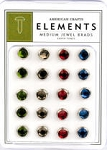 American Crafts Medium Jewel Brads - Earthtones