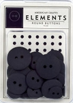American Crafts Buttons - Plum