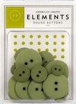 American Crafts Buttons - Leaf Green