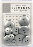 American Crafts Buttons - Silver