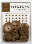 American Crafts Buttons - Copper