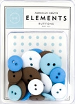 American Crafts Buttons - Baby Boy