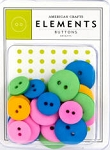 American Crafts Buttons - Brights  :)