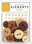 American Crafts Buttons - Neutrals