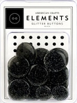 American Crafts Glitter Buttons - Black