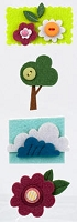 American Crafts - City Park Collection - Layered Felt Stickers - Details - Kite