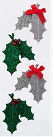 American Crafts - Dear Lizzy Christmas Collection - Layered Glitter Stickers - Details Tradition