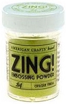 American Crafts Embossing Powder - Zing Opaque Lemon
