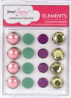 American Crafts - Dear Lizzy Enchanted Collection - Assorted Brads