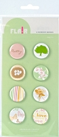 American Crafts - Flair Adhesive Badges - Pretty