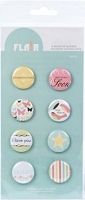 American Crafts - Flair Adhesive Badges - Note