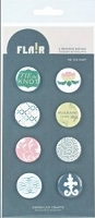 American Crafts - Flair Adhesive Badges - Tie the Knot