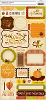 American Crafts - Pumpkin Patch - Hayride Accent and Phrase Stickers