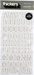 American Crafts Thickers Chipboard Glitter Stickers - Roller Rink White Glitter