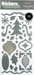 American Crafts Thickers Foil Stickers - Tinsel Accents Silver Metallic