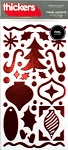 American Crafts Thickers Foil Stickers - Tinsel Accents Cherry Metallic