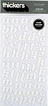 American Crafts Thickers Chipboard Stickers - Darling White