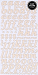 American Crafts Thickers Pearl Chipboard Stickers - Marquise Buttercream