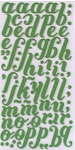 American Crafts Thickers Foam Stickers - Christmas Series -  Merry Spinach