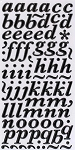American Crafts Thickers Printed Chipboard Stickers - Marquise Black