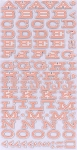 American Crafts Thickers Chipboard Stickers - Peachy Keen Series - Fellow - Sherbert