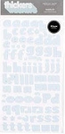 American Crafts Thickers Foam Stickers - Giggles Baby Blue