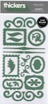 American Crafts Thickers Chipboard Stickers - Accents Shamrock