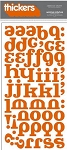 American Crafts Thickers Glitter Stickers - Hocus Pocus Rust