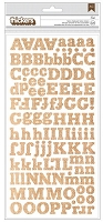 American Crafts Thickers Stickers - Burlap - Eric