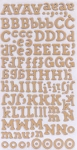American Crafts Thickers Chipboard Stickers - Hello Sunshine Series - Sunrise - Natural