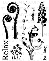 Art Journey - Unmounted Rubber Stamps - Nature 2