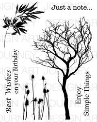Art Journey - Unmounted Rubber Stamps - Tree