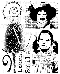 Art Journey - Unmounted Rubber Stamps - Smile