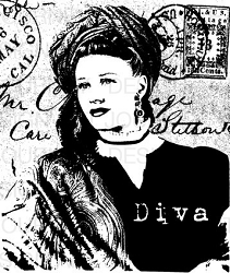 Art Journey - Unmounted Rubber Stamps - Diva