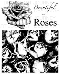 Art Journey - Unmounted Rubber Stamps - Beautiful Roses