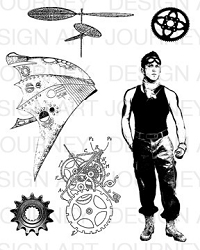 Art Journey - Unmounted Rubber Stamps - Steampunk 2