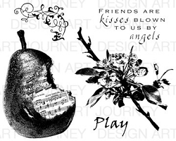 Art Journey - Unmounted Rubber Stamps - Pear