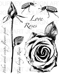 Art Journey - Unmounted Rubber Stamps - Roses