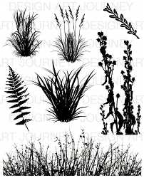 Art Journey - Unmounted Rubber Stamps - Grasses