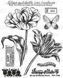Art Journey - Unmounted Rubber Stamps - Tulips