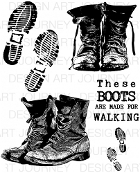 Art Journey - Unmounted Rubber Stamps - Ben's Boots