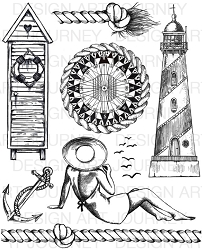 Art Journey - Unmounted Rubber Stamps - A Day at the Beach 2
