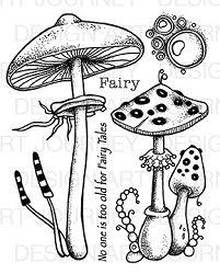 Art Journey - Unmounted Rubber Stamps - Fungus Fairy Tales