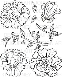 Art Journey - Unmounted Rubber Stamps - Big Open Flowers
