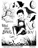 Art Journey - Unmounted Rubber Stamps - Bird Boy