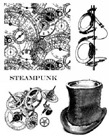 Art Journey - Unmounted Rubber Stamps - Steampunk 1