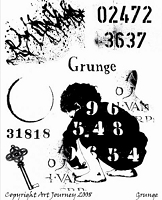 Art Journey - Unmounted Rubber Stamps - Grunge