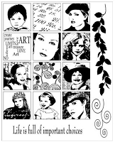 Art Journey - Unmounted Rubber Stamps - Inchies