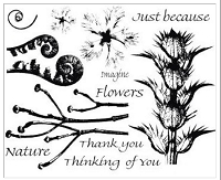 Art Journey - Unmounted Rubber Stamps - Nature